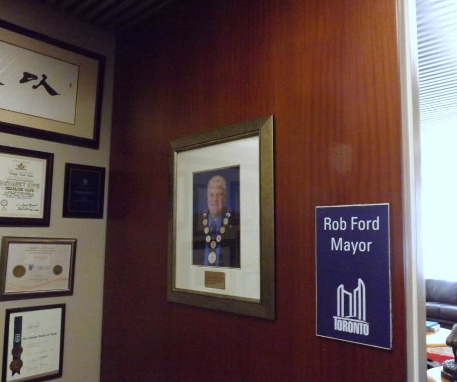 Entrance to the Mayor's  office