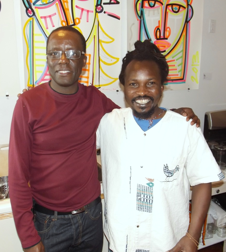 With the artist, Chikonzero Chazunguza