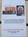 Mandela Day Program at Nelson Mandela Park Public School