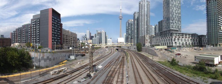 A panorama view - Into Union Station from the West